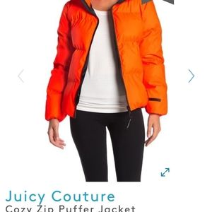 Juicy couture cozy puffer jacket Black Label